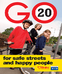 GO 20 for safe streets and happy people