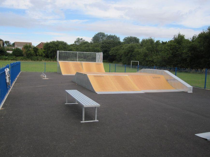A photo of the skatepark