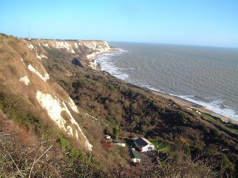 A view of the cliff tops