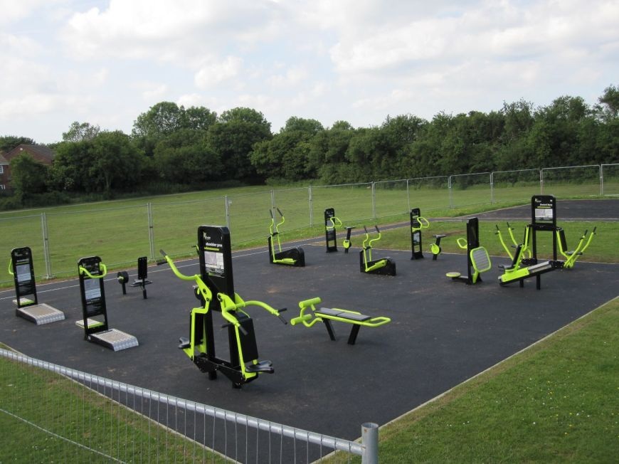 A photo of the outdoor gym