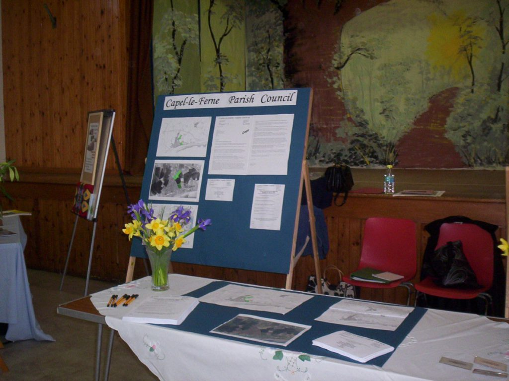 Parish Council stand with a display of local development framework plans
