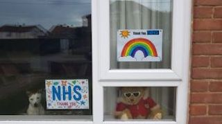 Rainbow NHS picture
